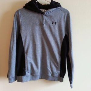 Under Armour gray/blue hoodie - womens medium
